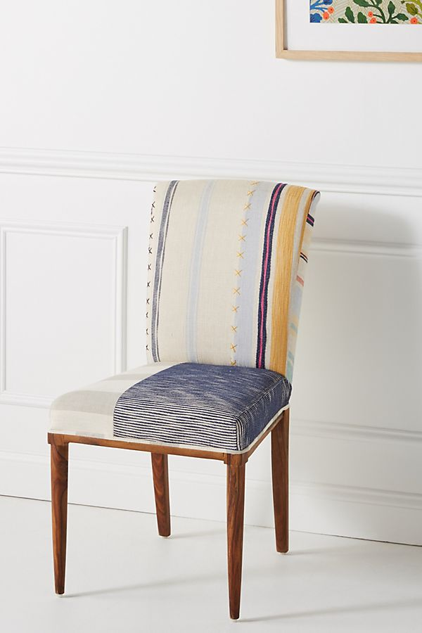 Slide View: 1: Paulina Stripe Dining Chair