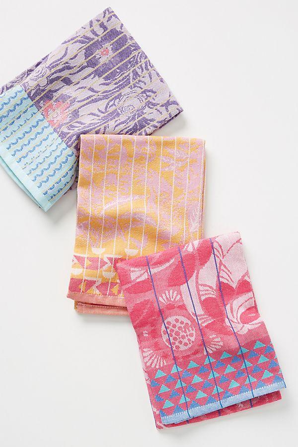 Elsa Jacquard Dish Towels Set Of 3