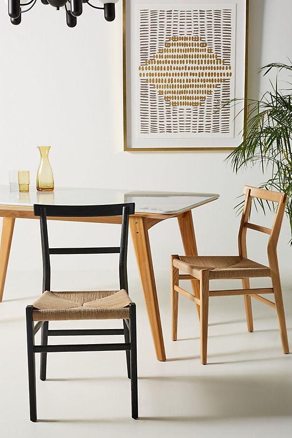Slide View: 1: Oak Farmhouse Dining Chair