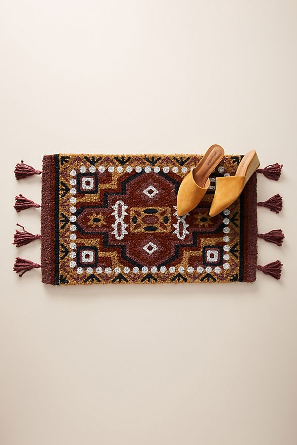 Slide View: 1: Tasseled Moroccan Doormat