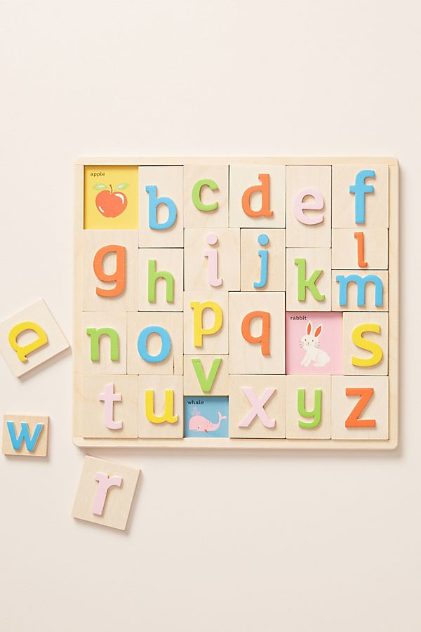 Slide View: 1: Alphabet Pictures Toy Set