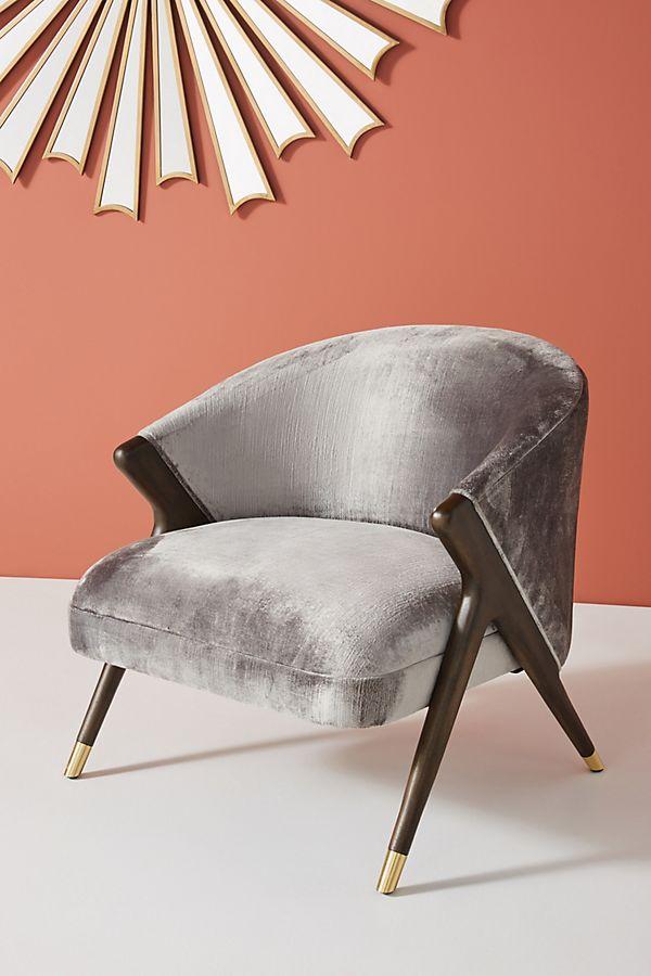 Outstanding Monroe Slub Velvet Accent Chair Machost Co Dining Chair Design Ideas Machostcouk