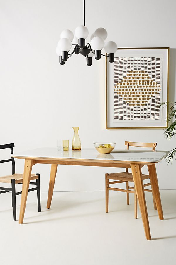 Slide View: 1: Anders Marble Dining Table