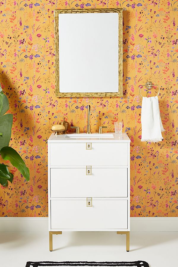 Slide View: 1: Ingram Powder Bathroom Vanity