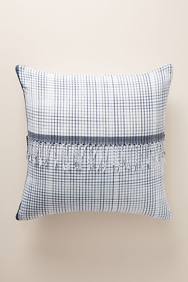 Slide View: 1: Woven Gingham Pillow