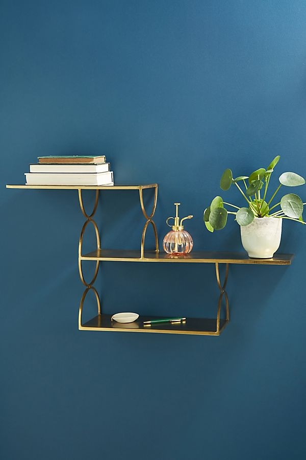 Slide View: 1: Staggered Shelving Unit