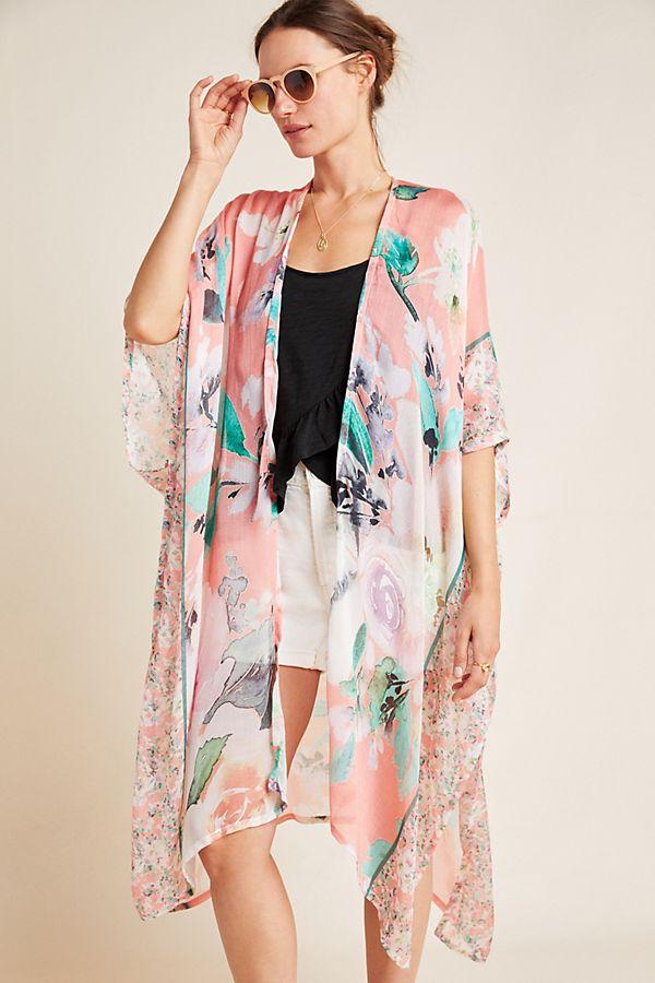 Slide View: 1: Calliope Floral Kimono