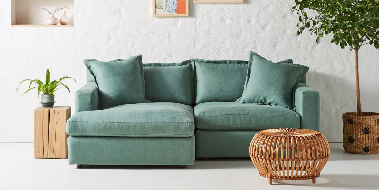 Velvet Anthropologie Sofa