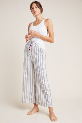 Sundry Striped Wide Leg Pants by Sundry