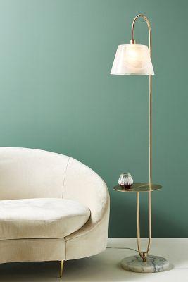 Mercy Marble Floor Lamp Anthropologie