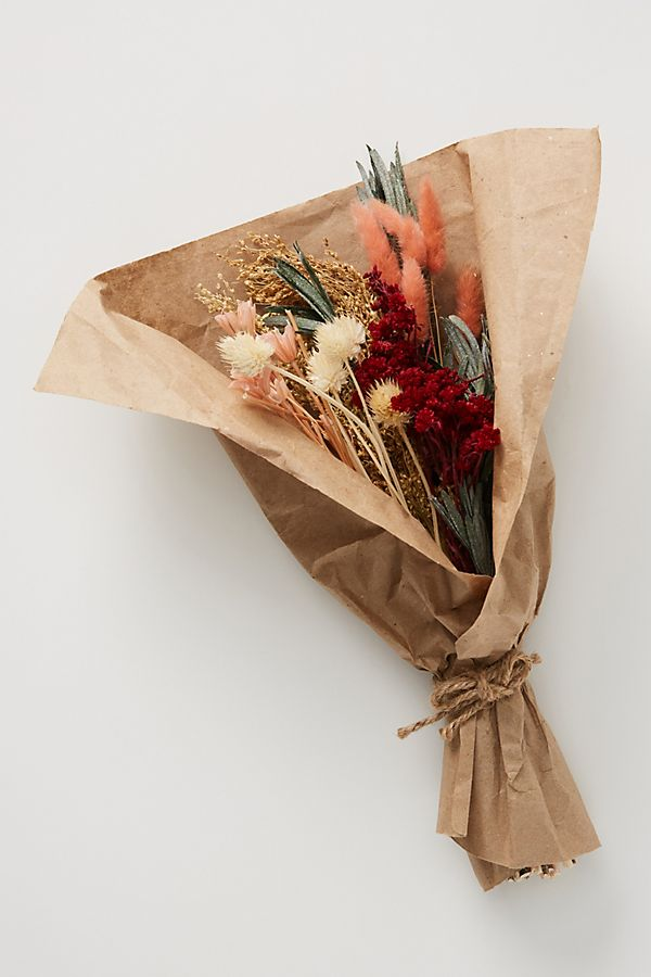 Slide View: 1: Dried Pink Bouquet