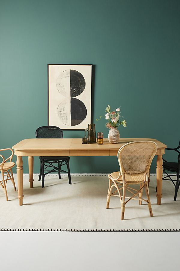 Slide View: 1: Elysian Expandable Farmhouse Dining Table