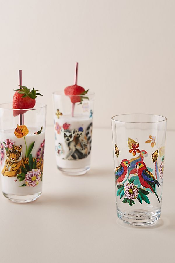 Slide View: 2: Nathalie Lete Tropical Juice Glass