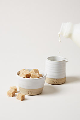 Slide View: 2: Farmhouse Pottery Silo Sugar and Creamer Set