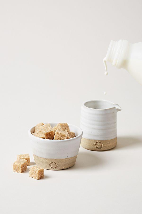 Slide View: 2: Farmhouse Pottery Silo Sugar and Creamer Set