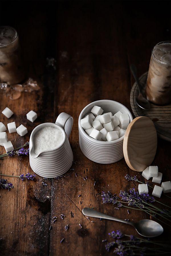 Slide View: 2: Farmhouse Pottery Hemlock Sugar and Creamer Set