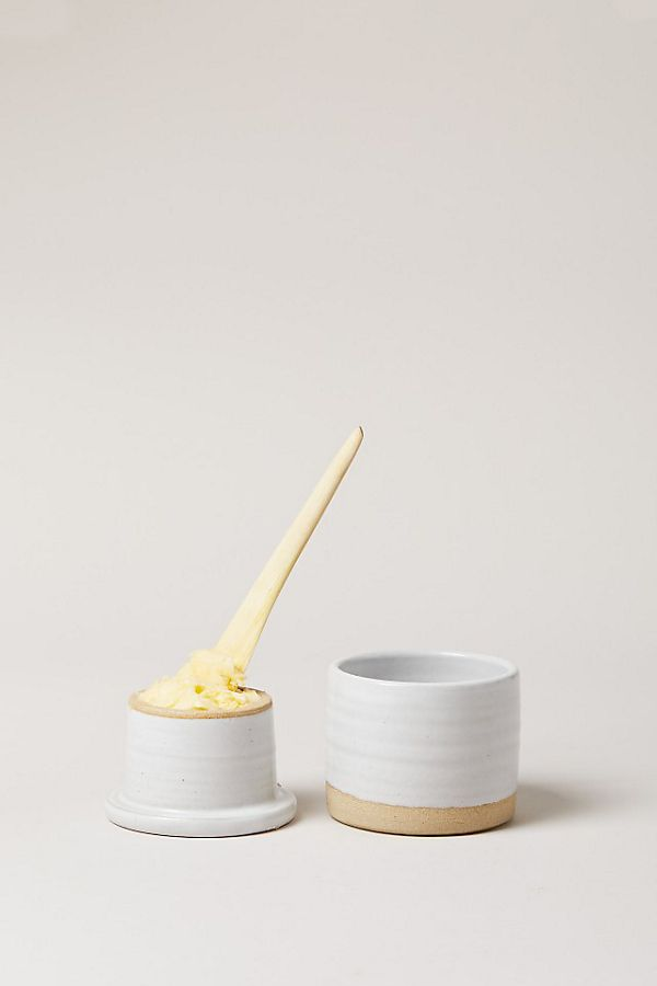 Slide View: 2: Farmhouse Pottery Silo Butter Keeper