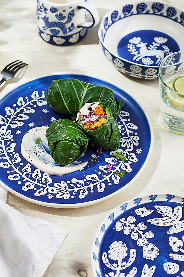 Pallu Dinner Plates, Set Of 4 by Anthropologie