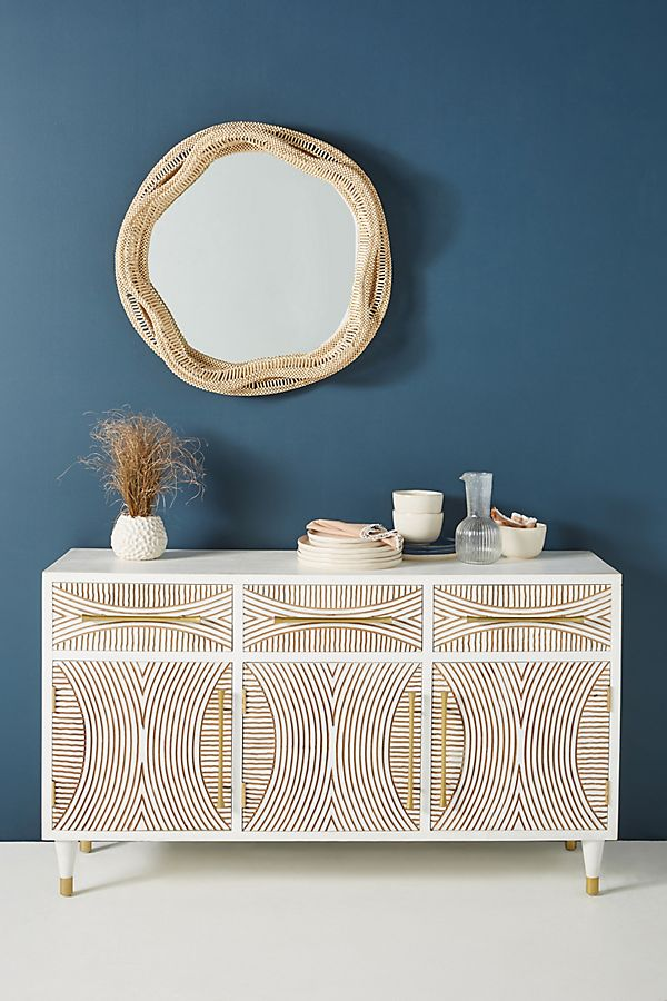 Slide View: 1: Carved Thalia Media Console