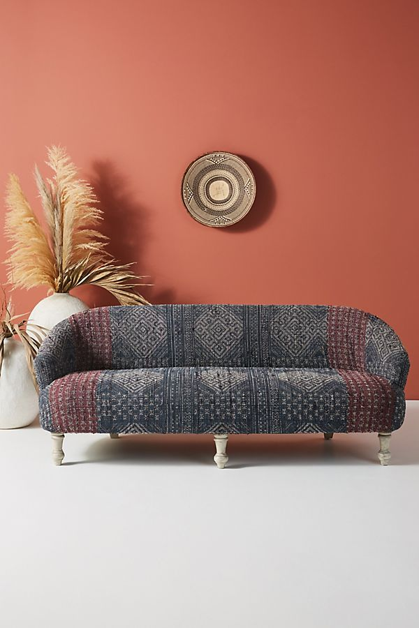Slide View: 1: Rug-Printed Sofa