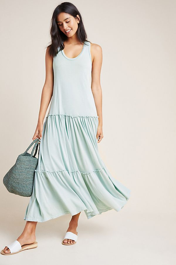 Slide View: 1: Sundry Tiered Sleeveless Dress