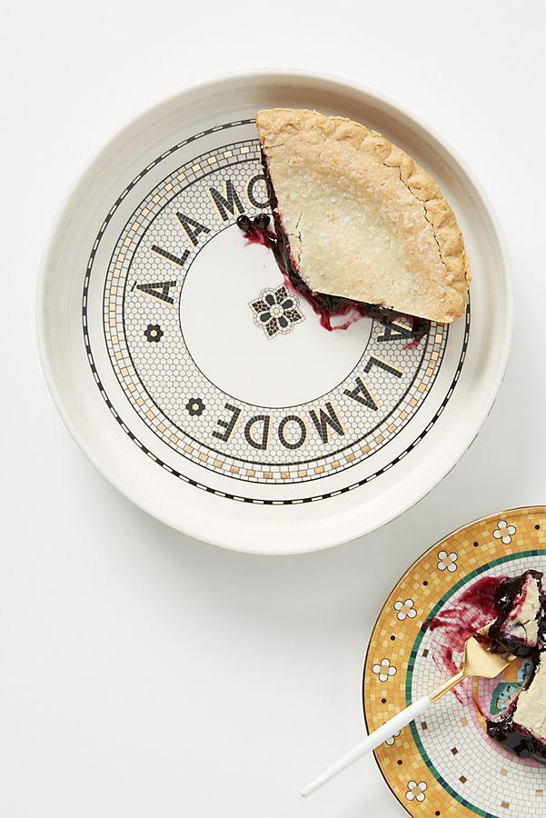 Slide View: 1: Bistro Tile Pie Dish