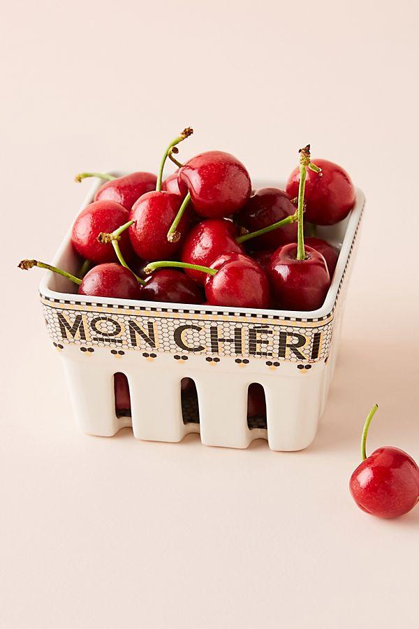 Slide View: 1: Mon Cheri Bistro Tile Berry Basket