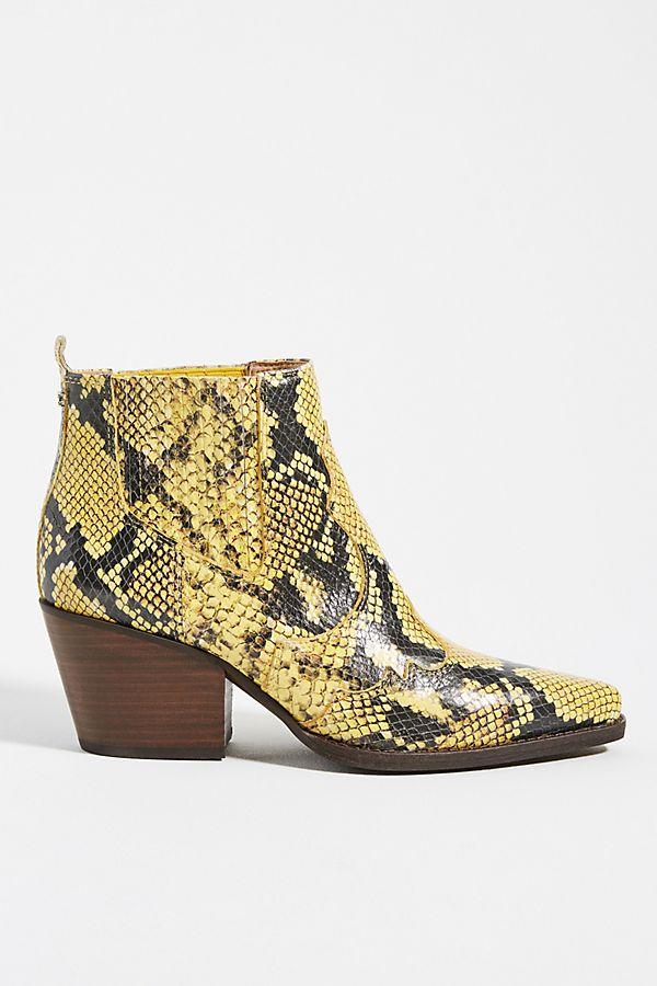 fc4fcb5df45 Sam Edelman Winona Snake Ankle Boots