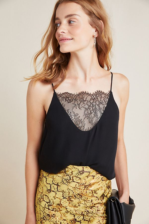 Slide View: 1: Joelle Silk Lace Cami