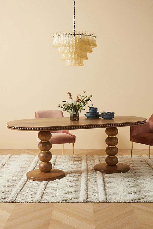 Slide View: 1: Soho Home x Anthropologie Harrison Oval Dining Table