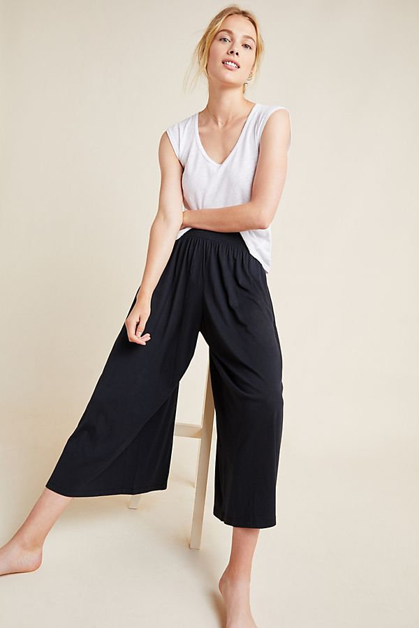 Slide View: 1: Spencer Smocked Wide-Leg Pants