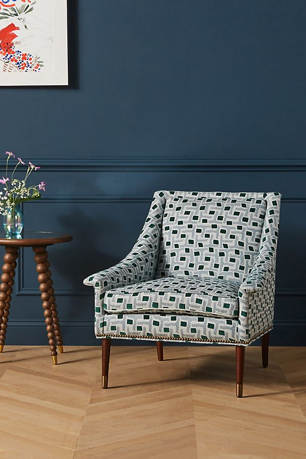 Slide View: 1: Soho Home x Anthropologie Eliza-Printed Tillie Chair