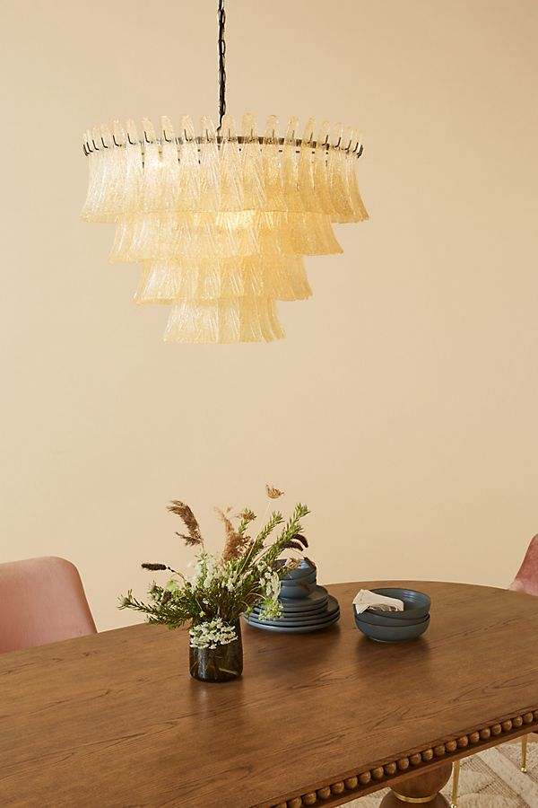 Slide View: 1: Soho Home x Anthropologie Sugar Glass Chandelier