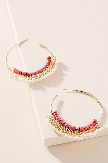 c5f6d7260af2 Moira Beaded Hoop Earrings