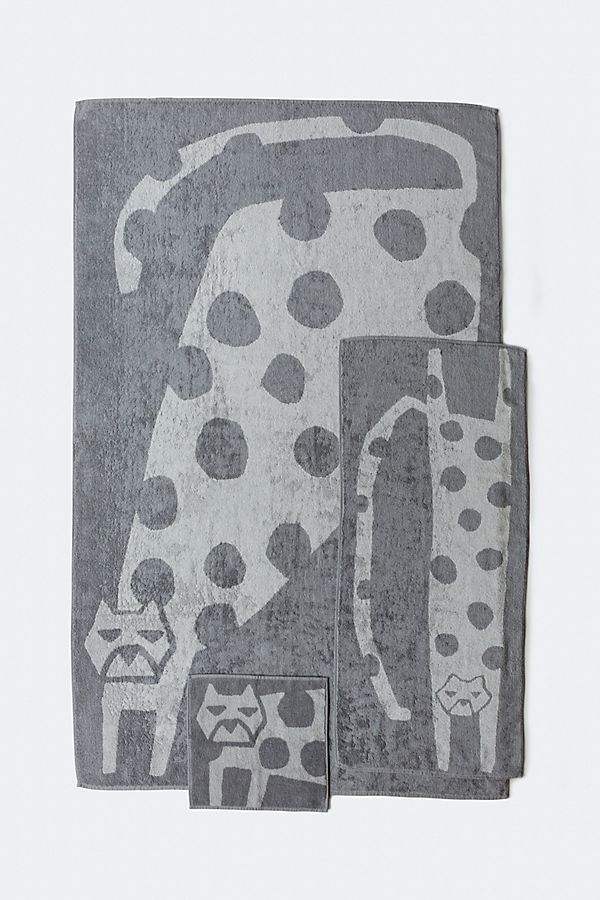 Slide View: 1: Yoshii Animal Towel, Cat