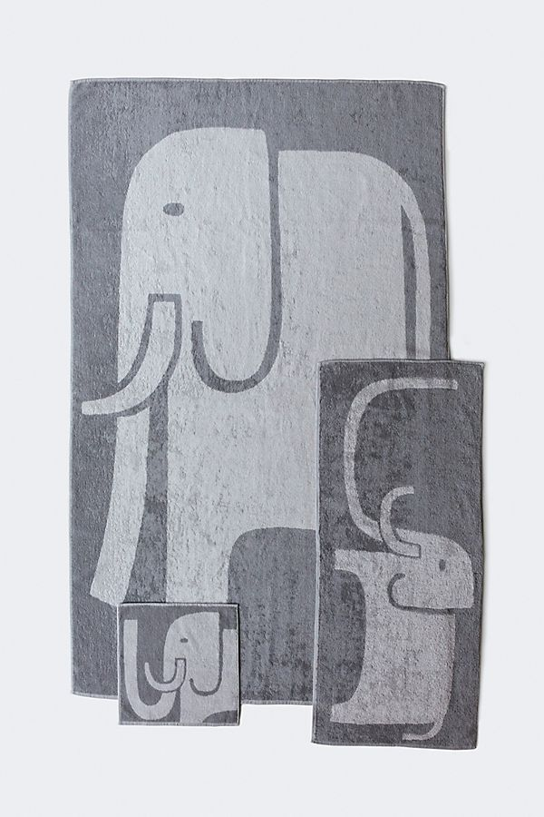Slide View: 1: Yoshii Animal Towel, Elephant