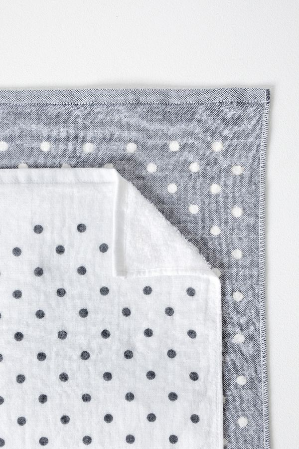 Slide View: 2: Yoshii Polka Dot Chambray Towel