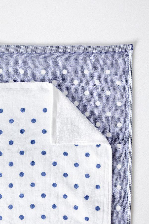Slide View: 1: Yoshii Polka Dot Chambray Towel