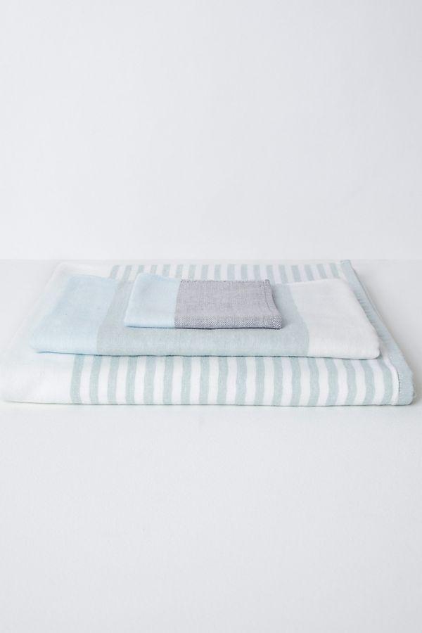 Slide View: 1: Yoshii Tri Color Chambray Towel