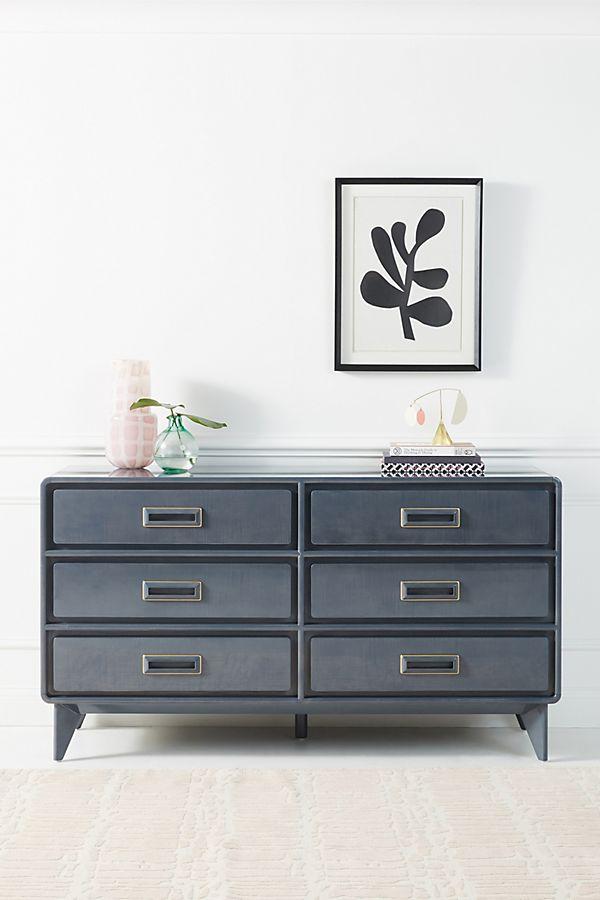 Slide View: 1: Barquette Six-Drawer Dresser