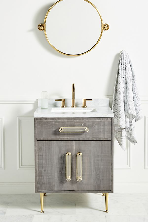 Slide View: 1: Odetta Powder Bathroom Vanity