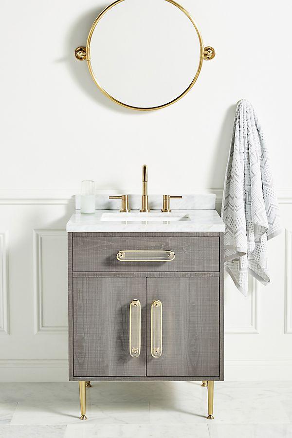 Slide View: 1: Odetta Powder Bathroom Vanity