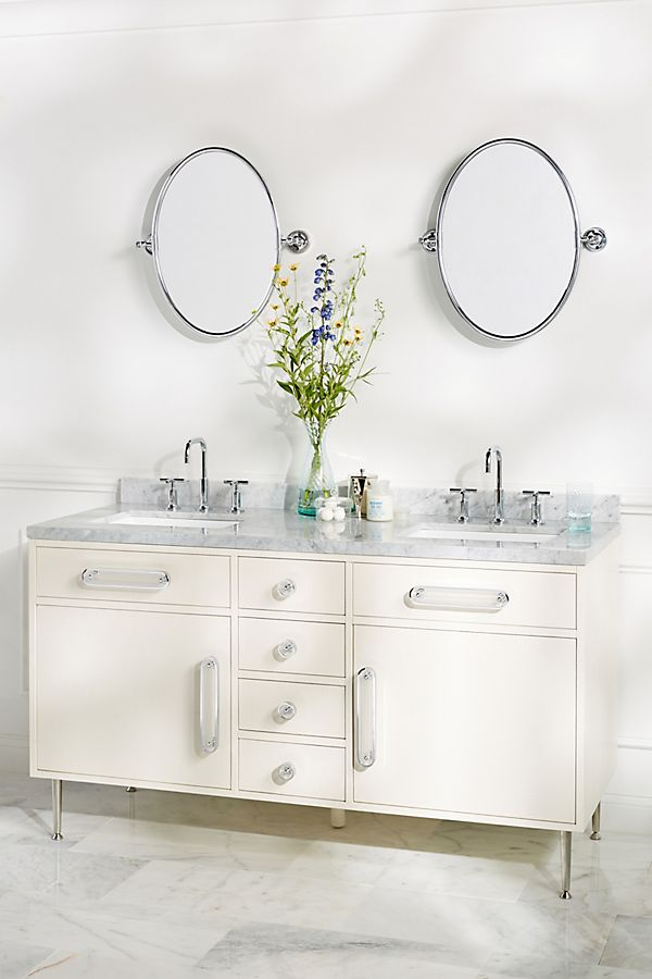Slide View: 1: Odetta Double Bathroom Vanity