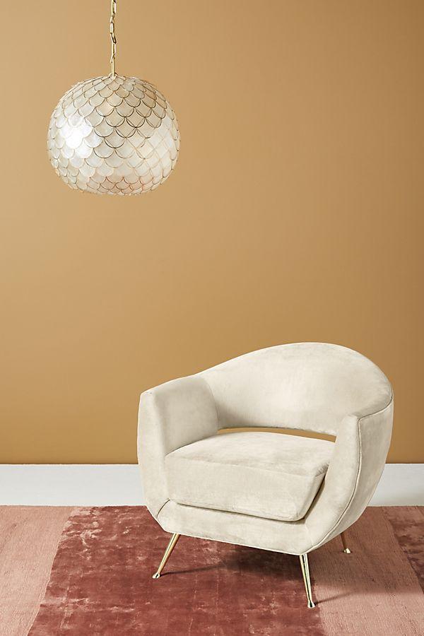 Slide View: 1: Lucca Slub Velvet Chair
