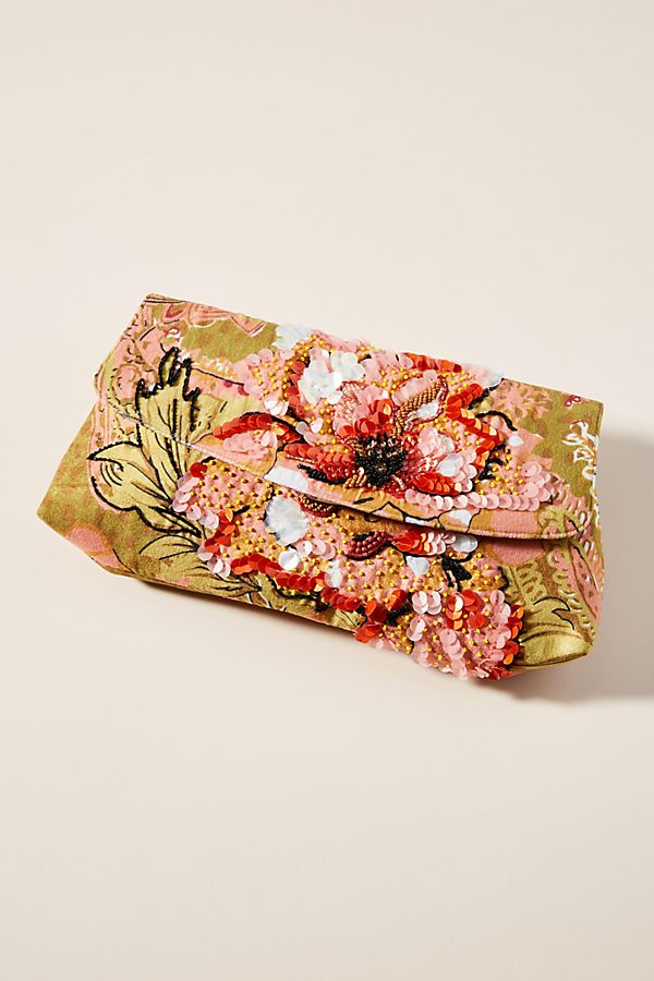 Lyra Embellished Clutch by Anthropologie