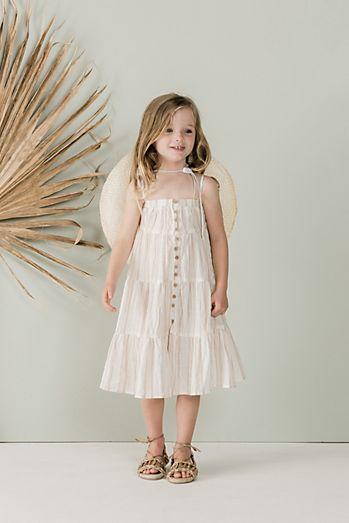 8355d9e20fb Rylee + Cru Sand Stripe Tiered Maxi Dress