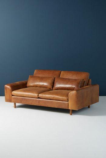 Mirren Two-Cushion Leather Sofa