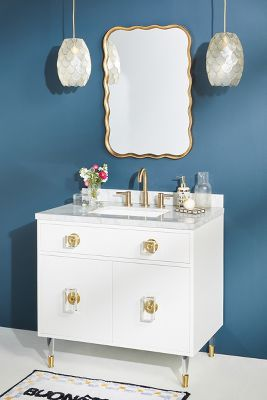 Lacquered Regency Single Bathroom Vanity Anthropologie