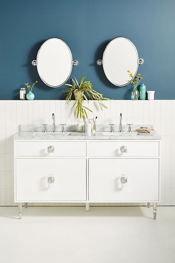 Slide View: 1: Lacquered Regency Double Bathroom Vanity