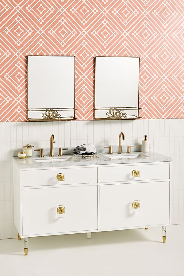 Slide View: 1: Lacquered Regency Double Bathroom Vanity
